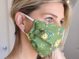 woman wearing homemade PPE Face Masks