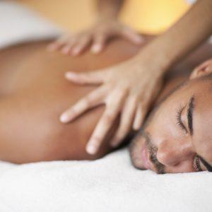 man receiving massage from a London escorts 24/7 service