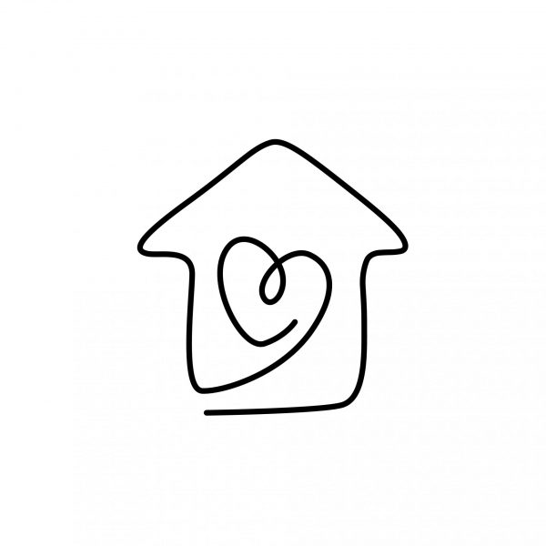 House with a love Heart